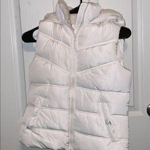 White puffer vest